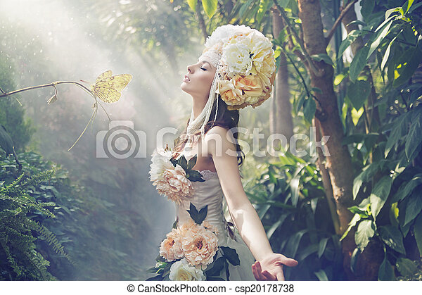 immagine, esotico, capriccio, donna - csp20178738