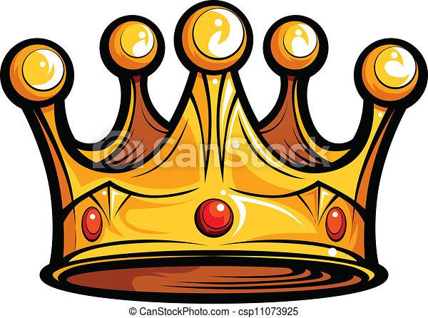 immagine, o, regalità, vettore, re, cartone animato, corona - csp11073925