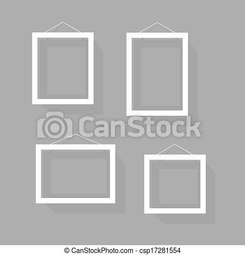 immagine, set, cornice, wall., contenuto, sagoma, vuoto - csp17281554