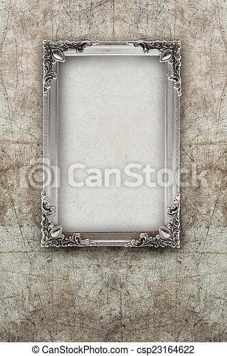 Immagine, vecchio, struttura parete, rovinato, effetti, fondo, argento.