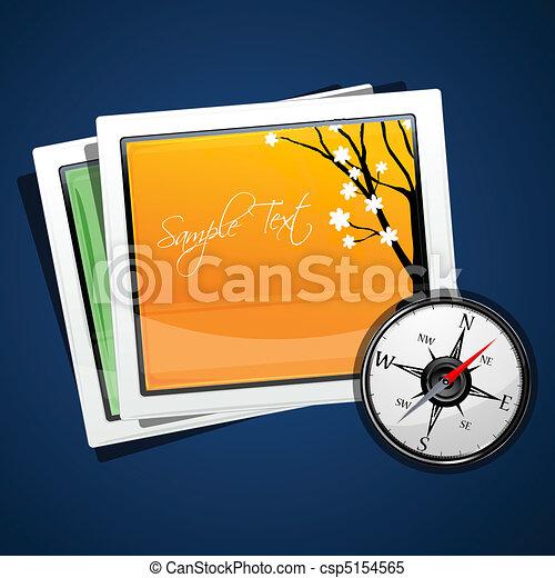 immagini, bussola - csp5154565