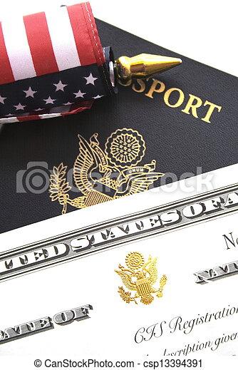 Immigration concept - csp13394391