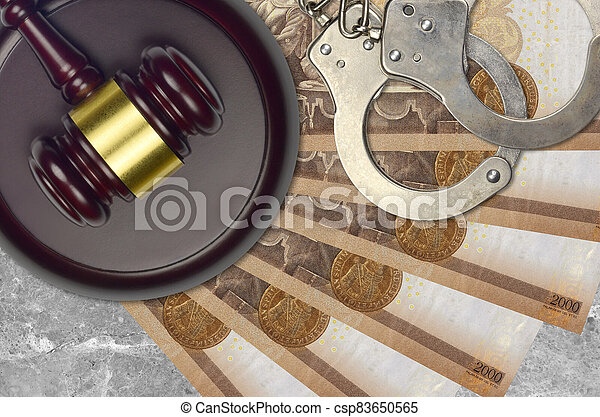 impôt, action éviter, procès, desk., marteau, tribunal, police, forint, hongrois, judiciaire, juge, 2000, menottes, factures, concept, ou, bribery. - csp83650565
