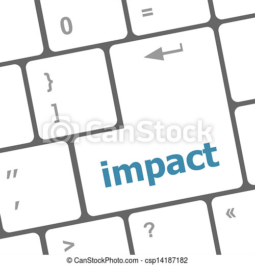 impact button on keyboard - business concept - csp14187182