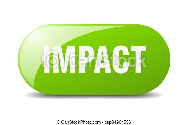 impact button. sticker. banner. rounded glass sign - csp84964536