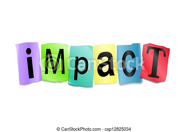 impact concept illustration depicting cutout printed drawings rh canstockphoto com Flower Clip Art clipart impacto