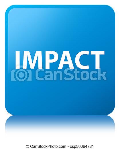 Impact cyan blue square button - csp50064731