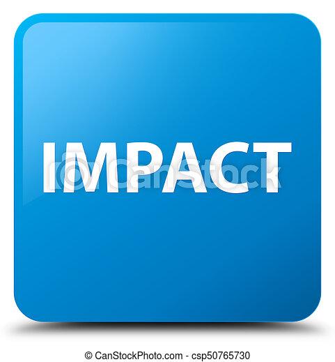 Impact cyan blue square button - csp50765730