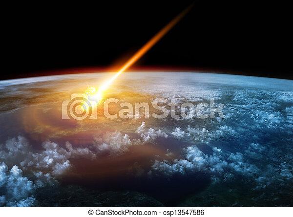 Impact Earth - csp13547586