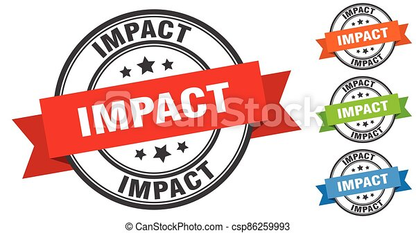 impact stamp. round band sign set. label - csp86259993