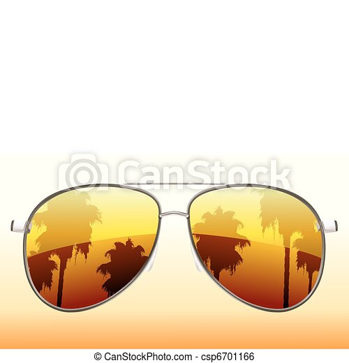 impaurito, occhiali da sole - csp6701166