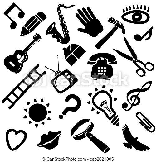 impaurito, vettore, oggetti - csp2021005