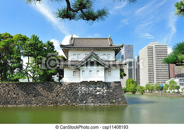 Imperial palace in Tokyo - csp11408193