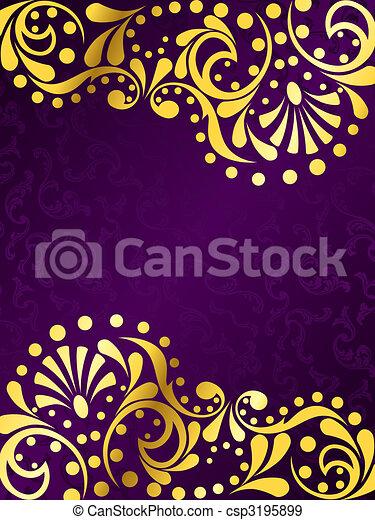 imporpori sfondo, filigrana, oro, verticale - csp3195899