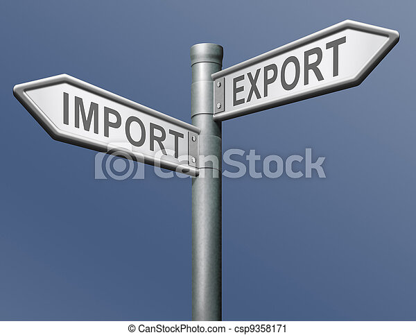 import export freight transportation - csp9358171
