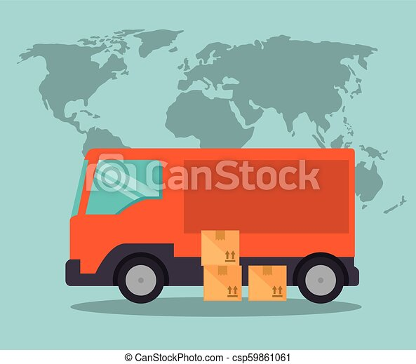 import free shipping truck - csp59861061