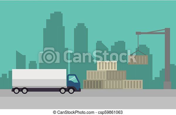 import free shipping truck - csp59861063