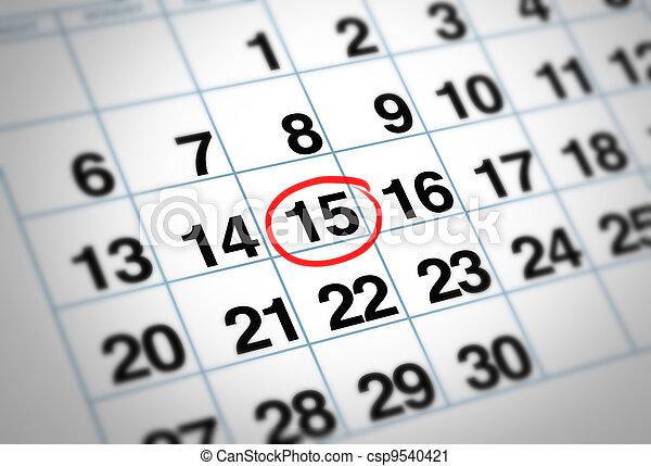 Important date - csp9540421