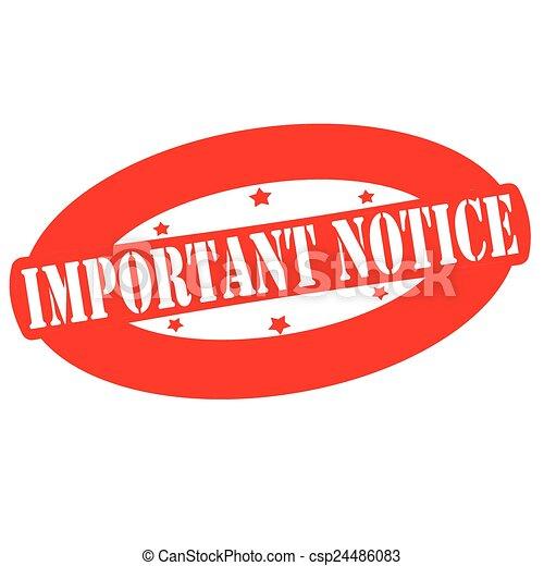 Important notice - csp24486083