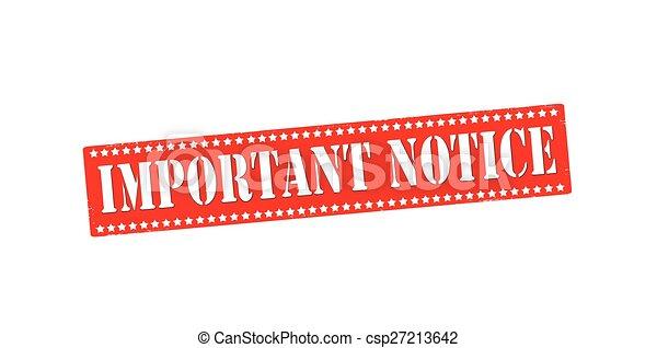 Important notice - csp27213642