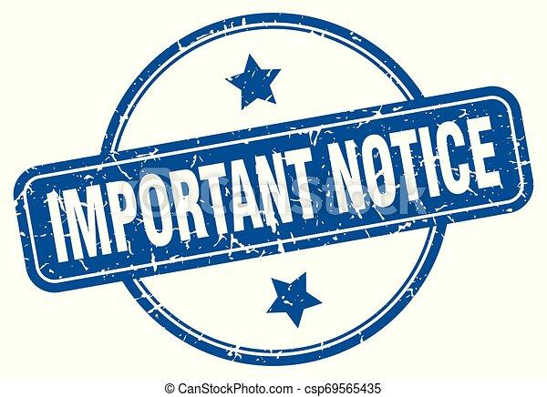 important notice - csp69565435