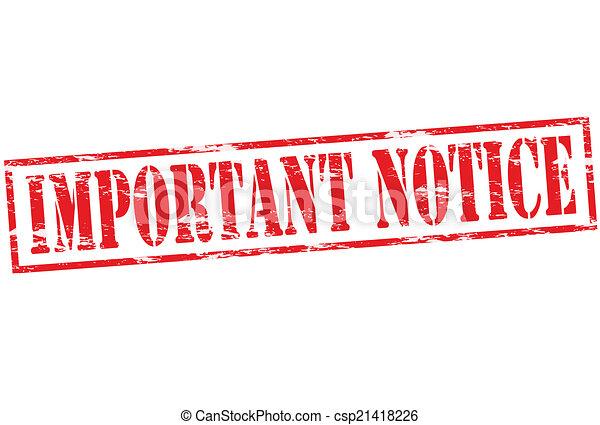 Important notice - csp21418226