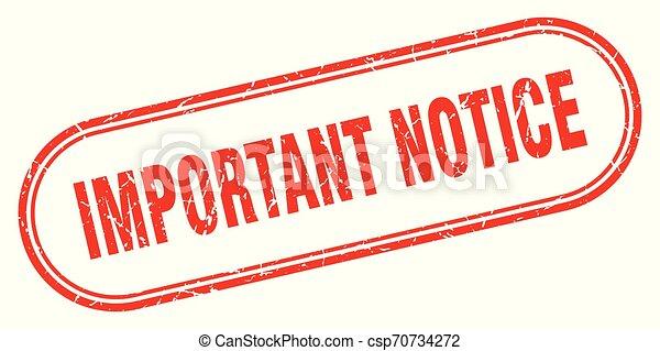 important notice - csp70734272