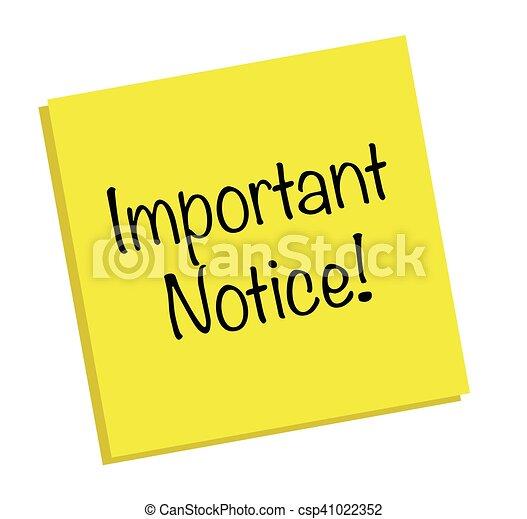 Important Notice Note - csp41022352