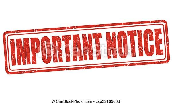Important notice stamp - csp23169666