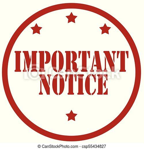 Important Notice-stamp - csp55434827