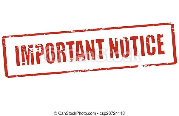 Important notice - csp28724113
