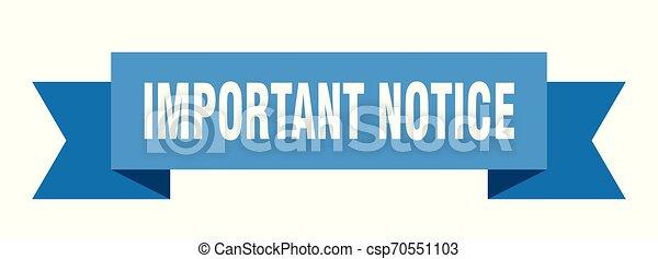 important notice - csp70551103