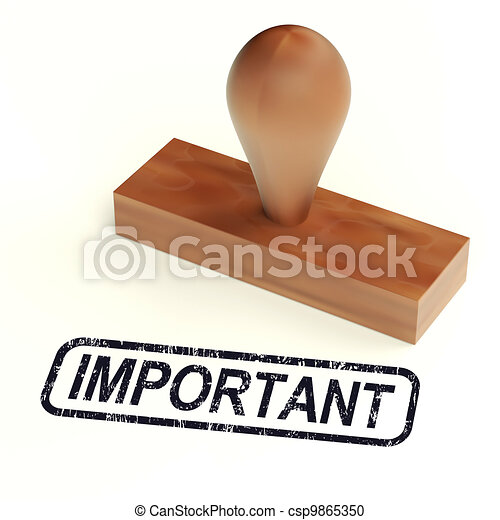 Important Rubber Stamp Shows Critical Information - csp9865350