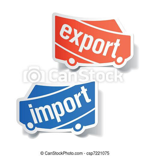 importation, étiquettes, exportation - csp7221075