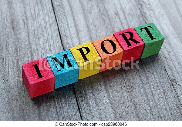 importation, concept - csp23980046