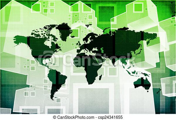 importation, global, exportation - csp24341655