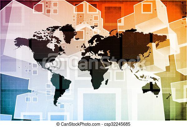 importation, global, exportation - csp32245685