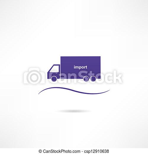 importation, icône - csp12910638