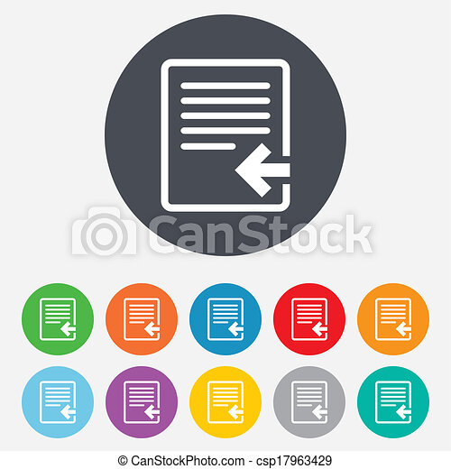 importation, icon., document, symbole., fichier - csp17963429