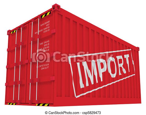 importation, récipient, cargaison - csp5829473