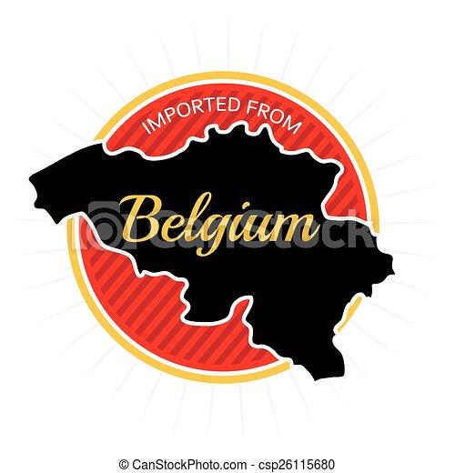 Imported from Belgium Label - csp26115680