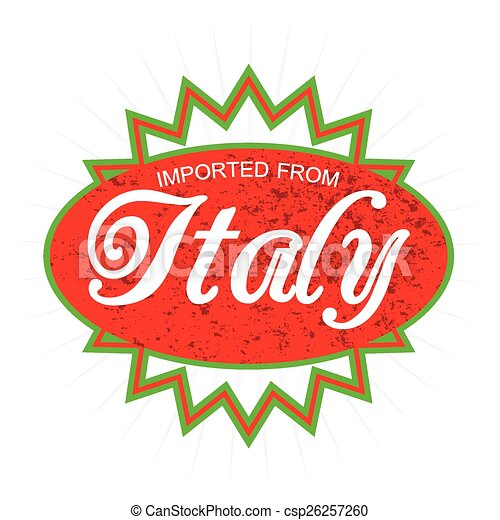 Imported from Italy Product Label - csp26257260