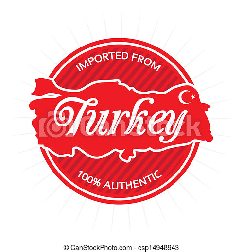Imported from Turkey Label - csp14948943