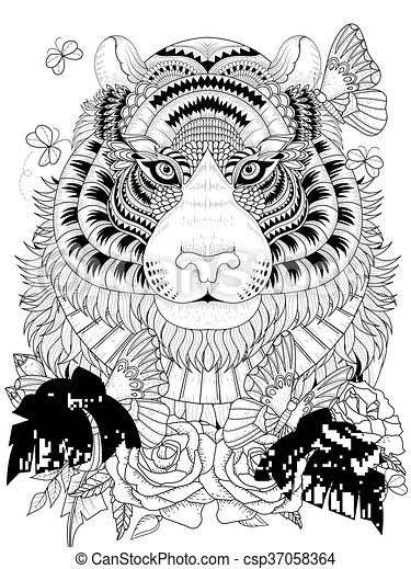 25 Best Tiger Coloring Pages images | Coloring pages, Adult ... | 470x338