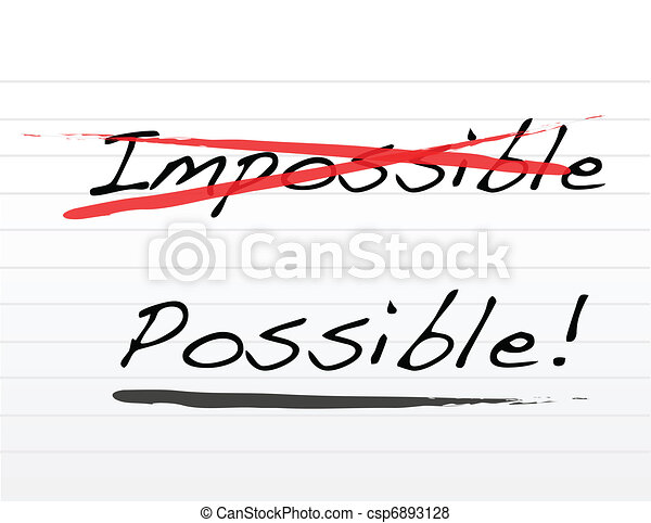 impossible and writing possible - csp6893128