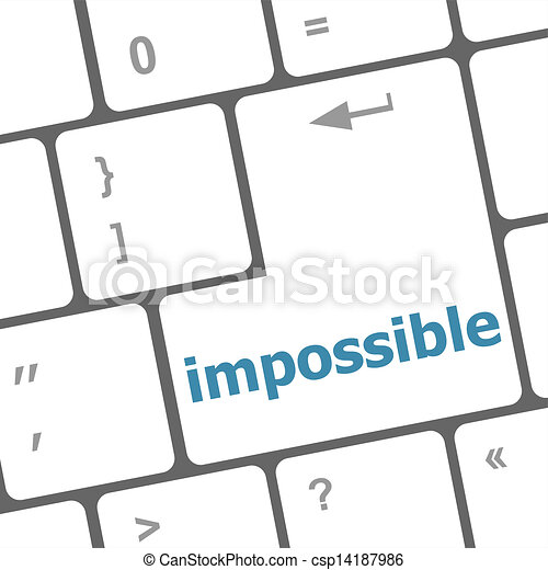 impossible button on keyboard - business concept - csp14187986