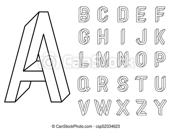 impossible geometry letters et of vector letters constructed on the rh canstockphoto com vector letters illustrator vector letters online