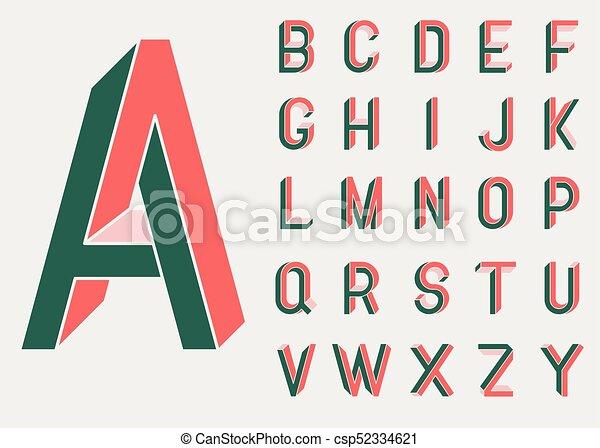 Impossible shape font - csp52334621