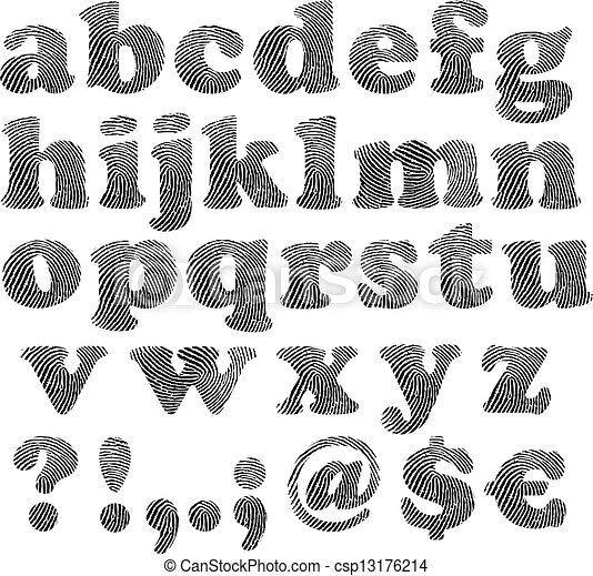 Impresión, alfabeto, dedo clip art vectorial - Buscar ilustraciones ...