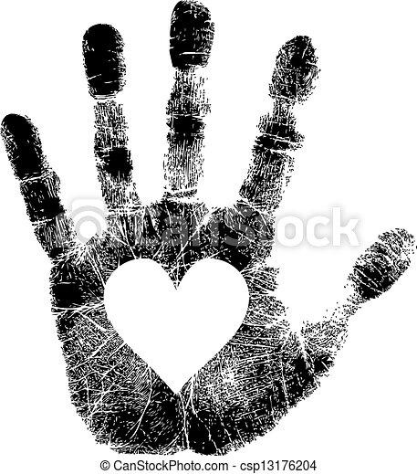 Imprenta con el corazón - csp13176204